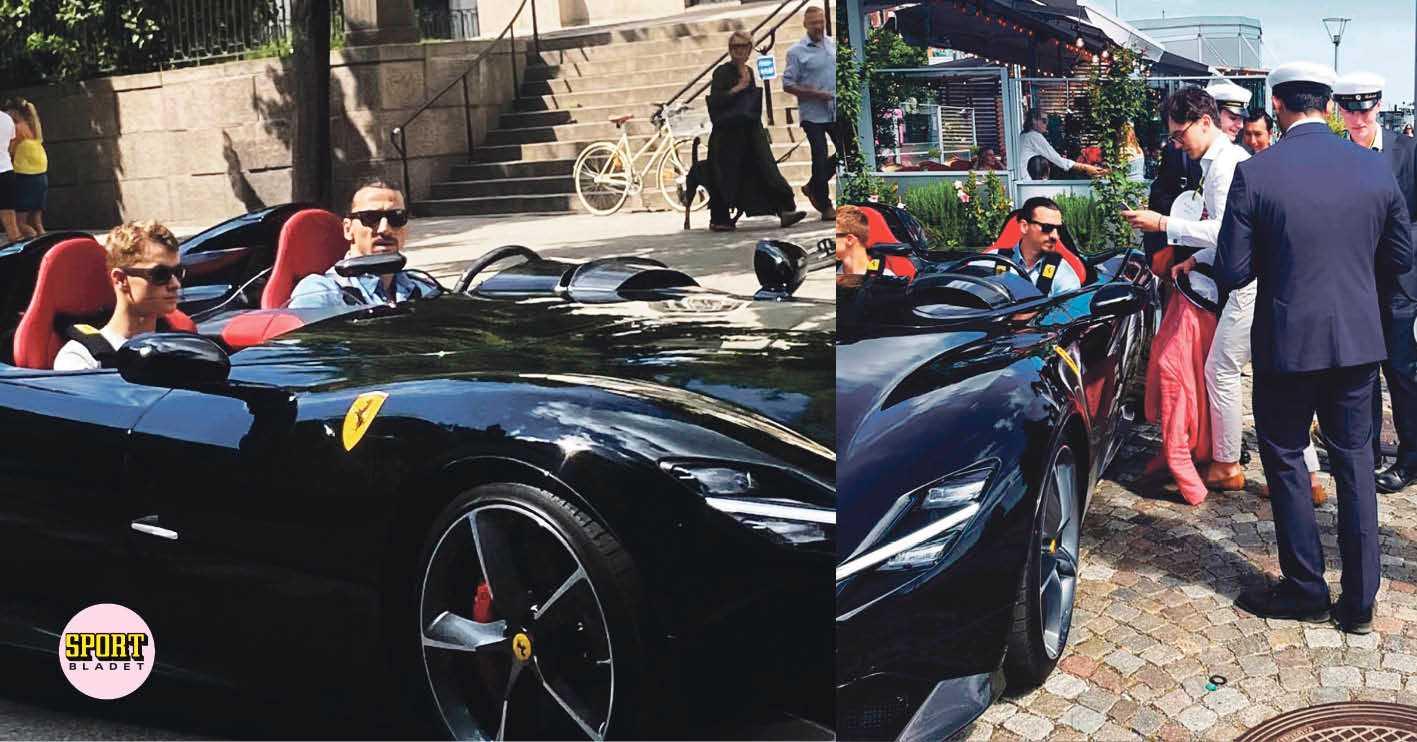 Här visar Zlatan upp sin lyxbil i Stockholm