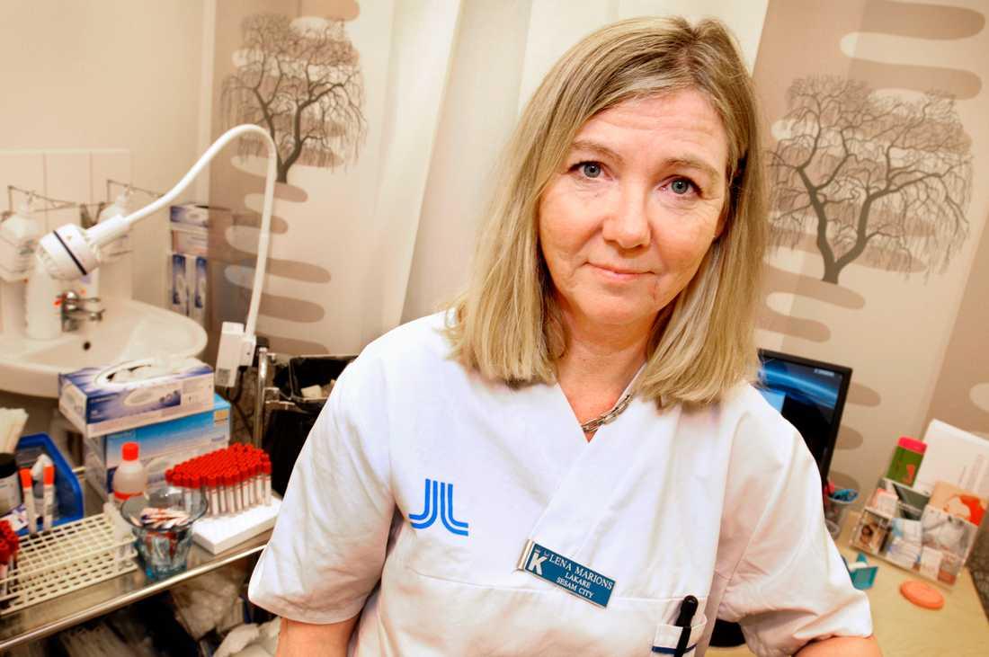 Gynekolog Lena Marions.