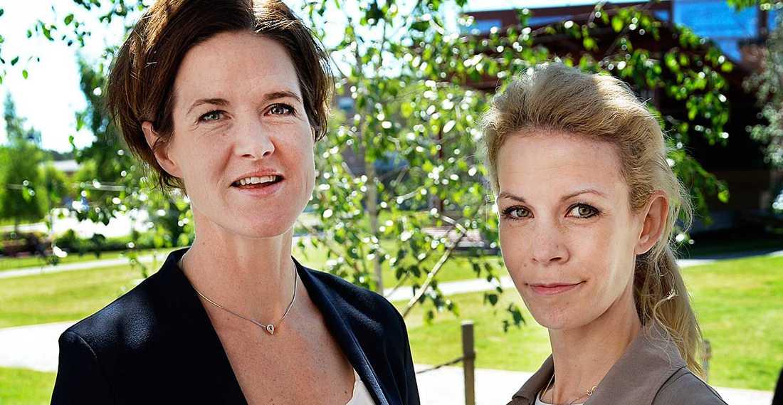 Anna Kinberg Batra (M) och Anna König Jerlmyr (M).
