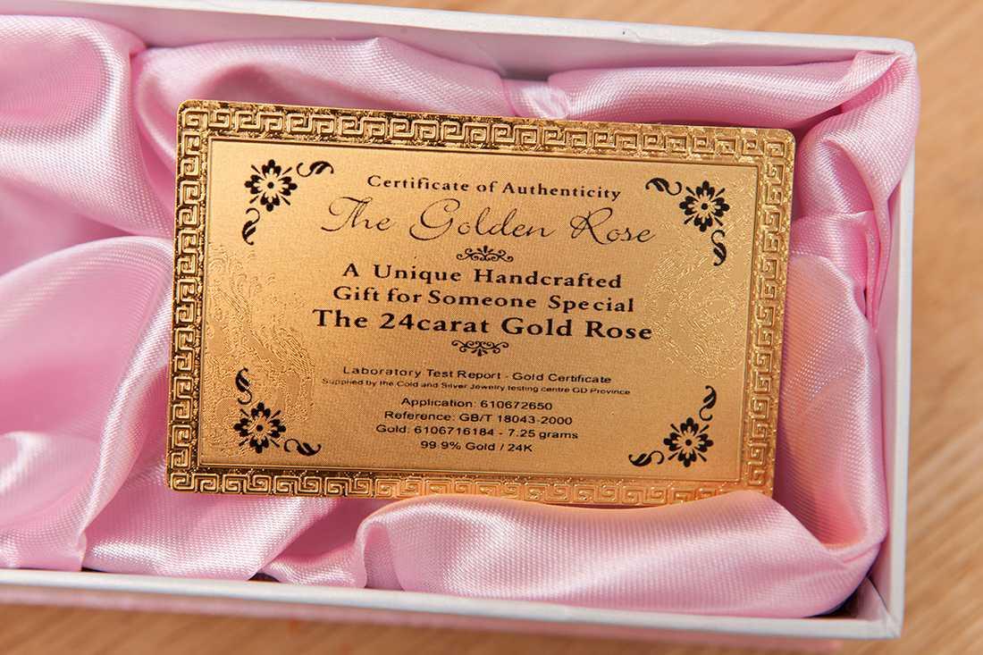 Hanna betalade 368 kronor för de två rosorna. På nätet hittade hon senare samma ros med samma typ av låda för 1 dollar styck.