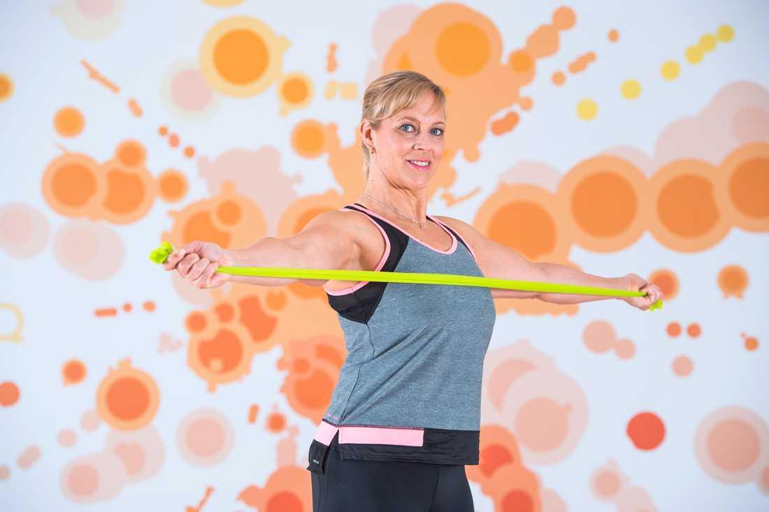 Sofia Åhman började spela in SVT:s gympingprogram i sin mammas lägenhet. Gensvaret blev enormt.