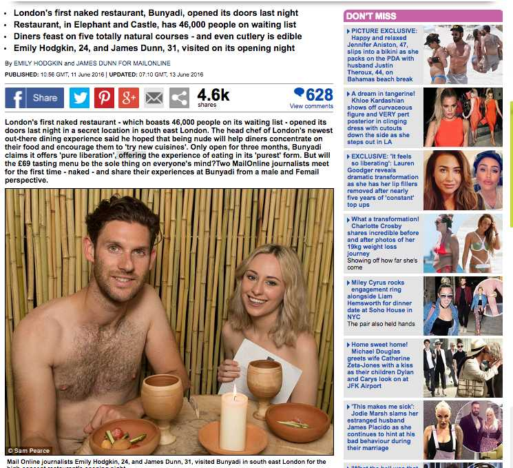 Daily Mails journalister har testa Londos nakenkrog.