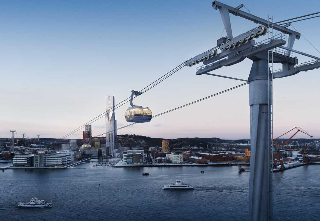 Till Göteborg 400-årsjubileum 2021 planeras det för en linbana mellan Järntorget och Wieselgrensplatsen.