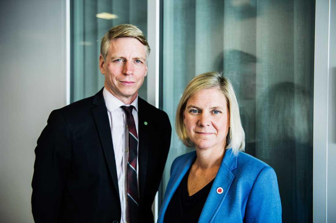 Per Bolund och Magdalena Andersson.