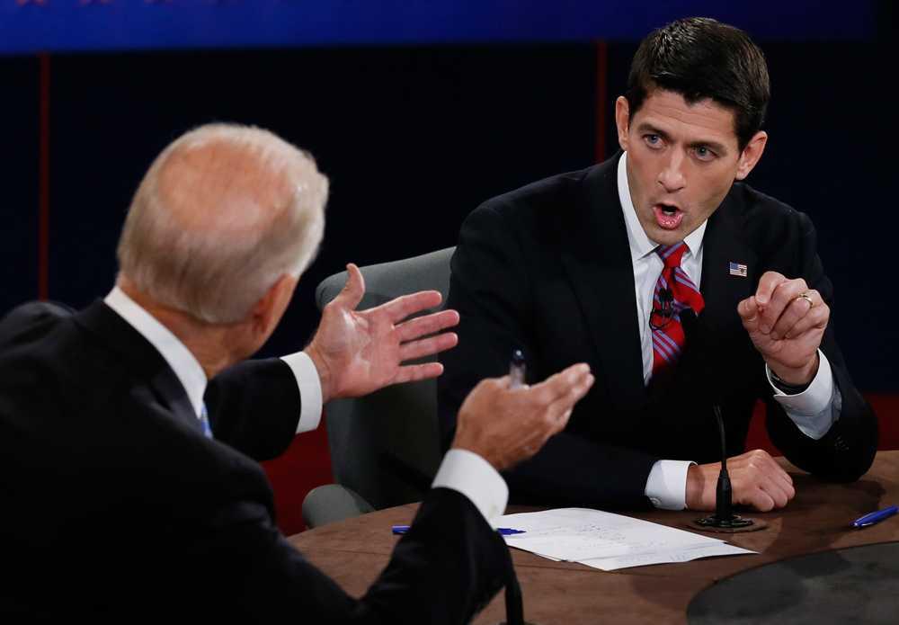 Joe Bidens taktik var att avbryta, fnysa och skratta åt Paul Ryan.