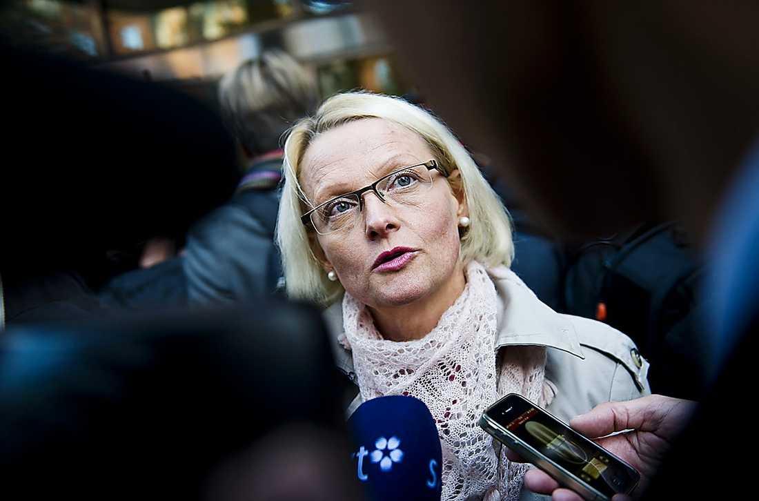 Heléne Fritzon, 51, S-ordförande i Skåne Den i VU som ligger allra mest åt vänster. Hennes distrikt är klassiskt vänsterinriktat.