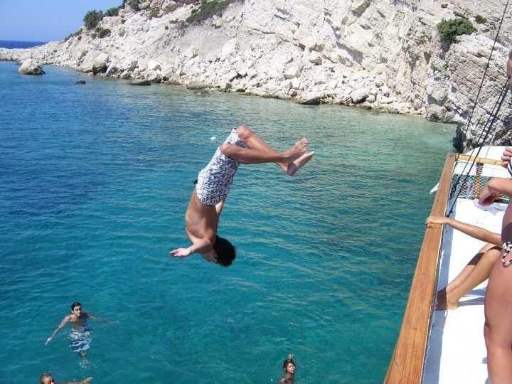 Båttur i Grekland.