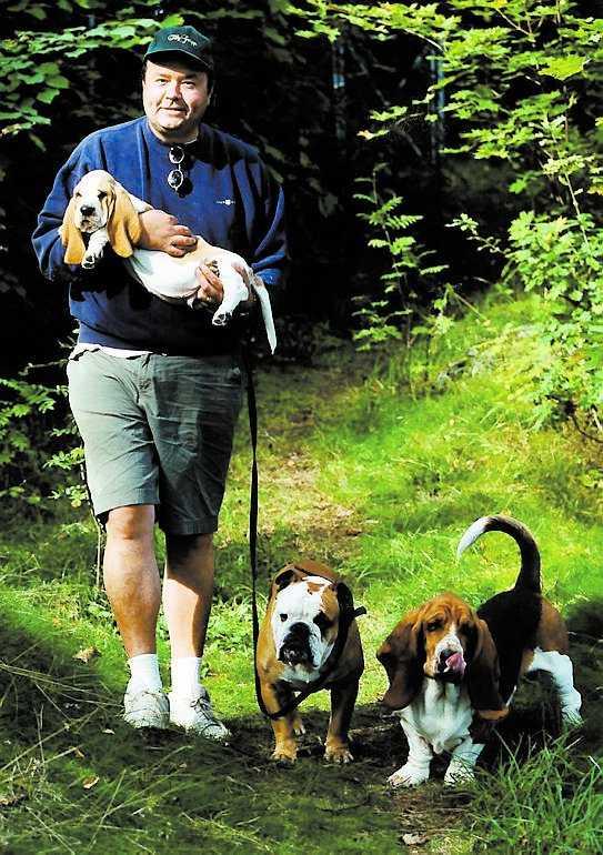 DJURVÄNNEN Ulf Larsson var mycket förtjust i djur och hans hundar betydde mycket.