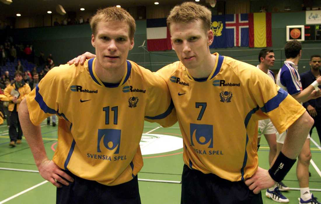 Tillsammans med Mathias Franzén i World Cup 1999.