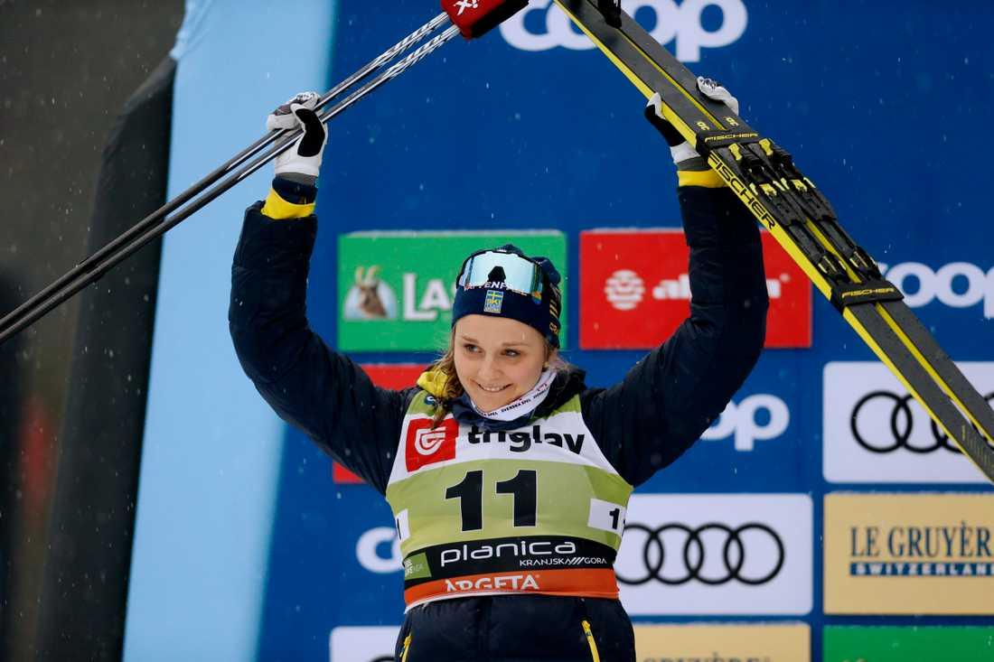 Stina Nilsson sadlar om och satsar på skidskytte. Arkivbild.
