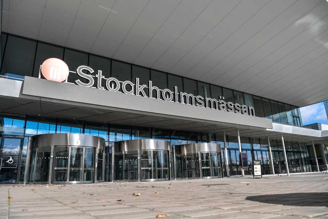 Exteriörbild från Älvsjömässan i Stockholm. Arkivbild.