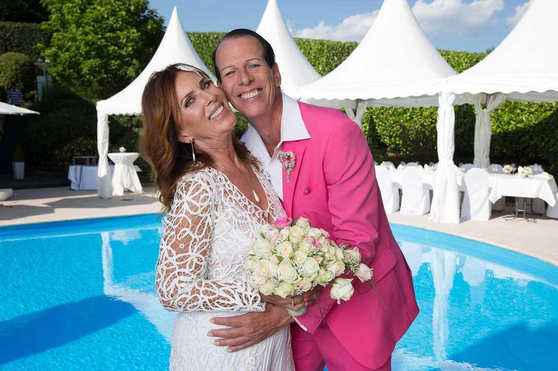Sylvia Vrethammar gifte sig dagen innan hon fyllde 70 med tyska musikproducenten Alex Gietz, 57.