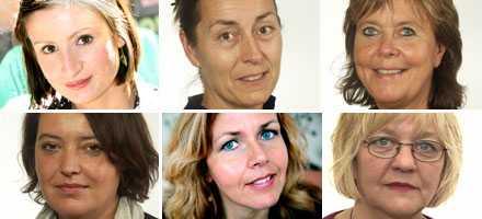 Birgitta Ohlsson, Agneta Berliner, Maria Lundqvist-Brömster, Camilla Lindberg, Cecilia Wikström och Solveig Hellquist.
