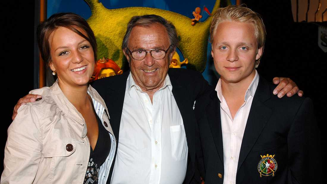 Arne Weise med barnen Anna och Andreas.