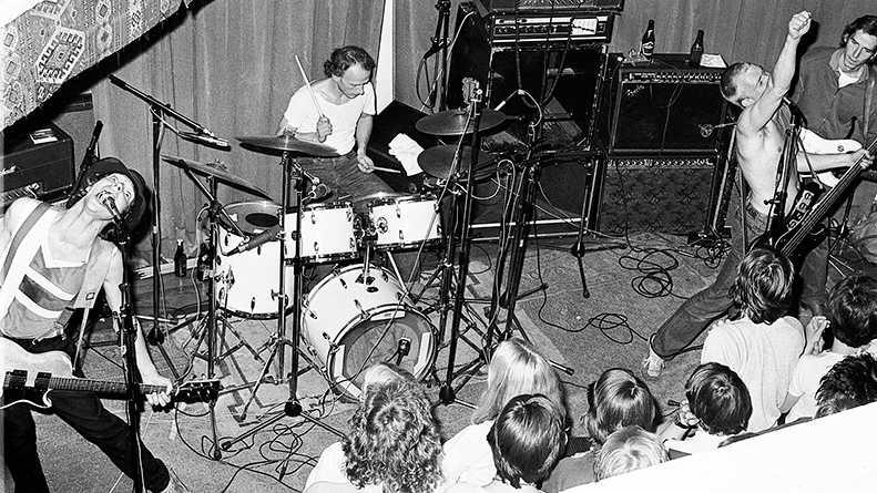 Ebba Grön på scen 1979.