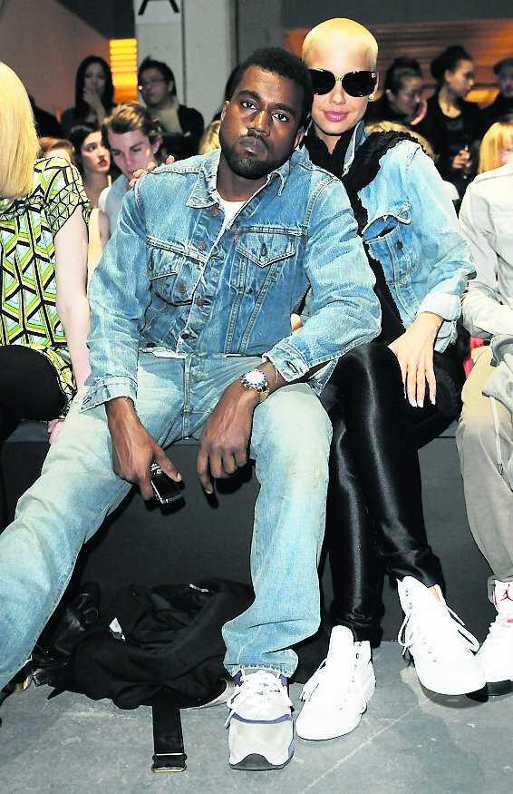 Kanye West och Amber Rose.