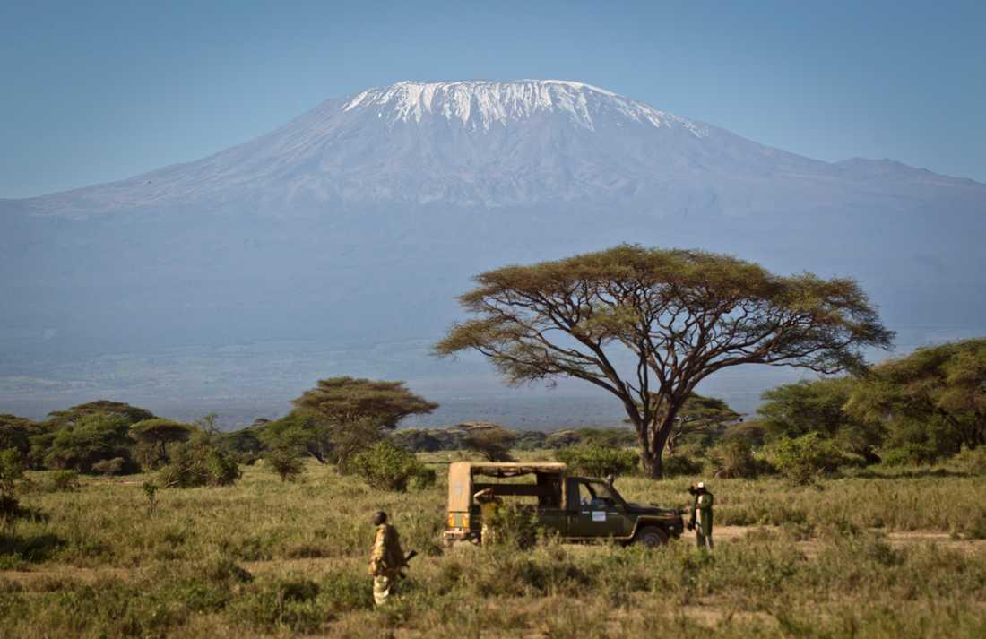 Den nyupptäckta vulkanen har samma form som Kilimanjaros vulkaner. Arkivbild.