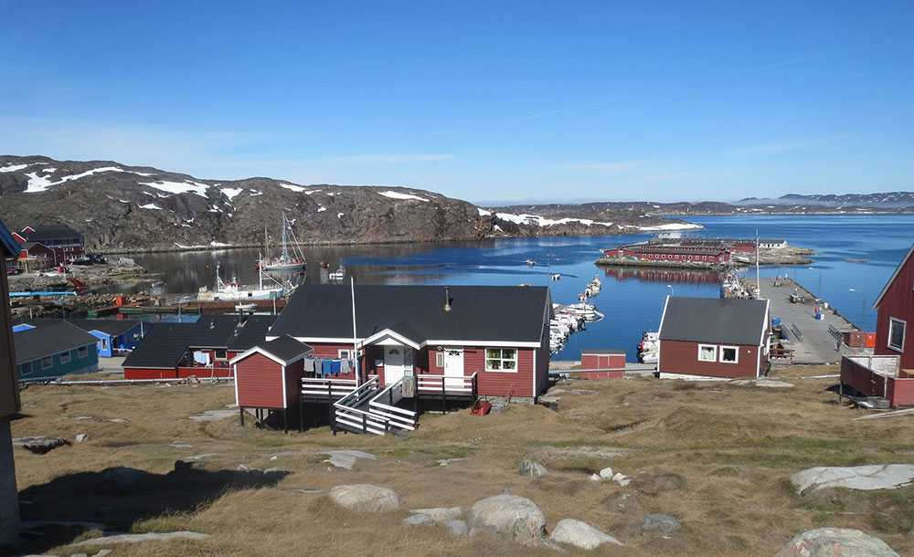 I staden Egedesminde på Grönland hittar du lugnet.