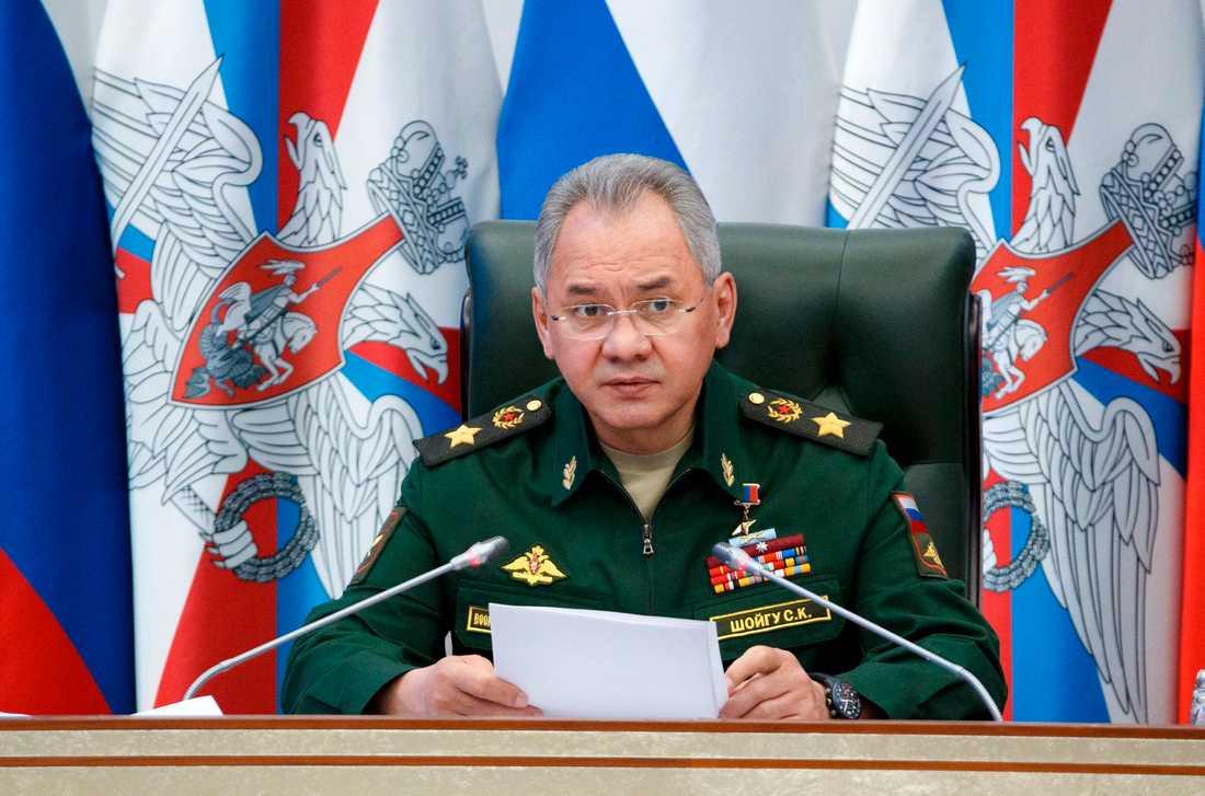 Rysslands försvarsminister Sergej Sjojgu. Arkivbild.