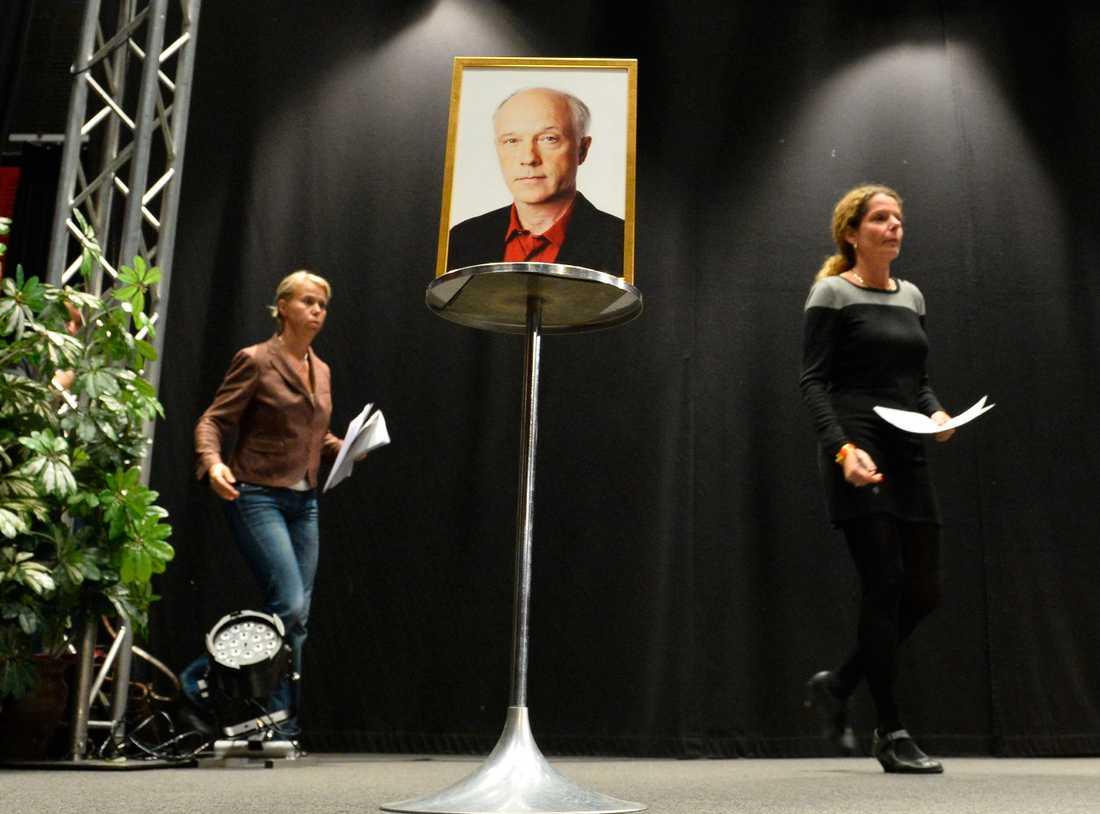 Nils Horner, mångårig korrespondent på Sveriges radio, sköts ihjäl i Kabul. Chefen på Ekot Anne Lagercrantz och SR:s vd Cecilia Benkö på presskonferensen.