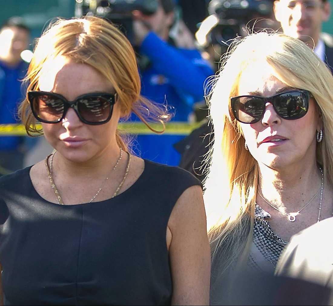 Lindsay och Dina Lohan.