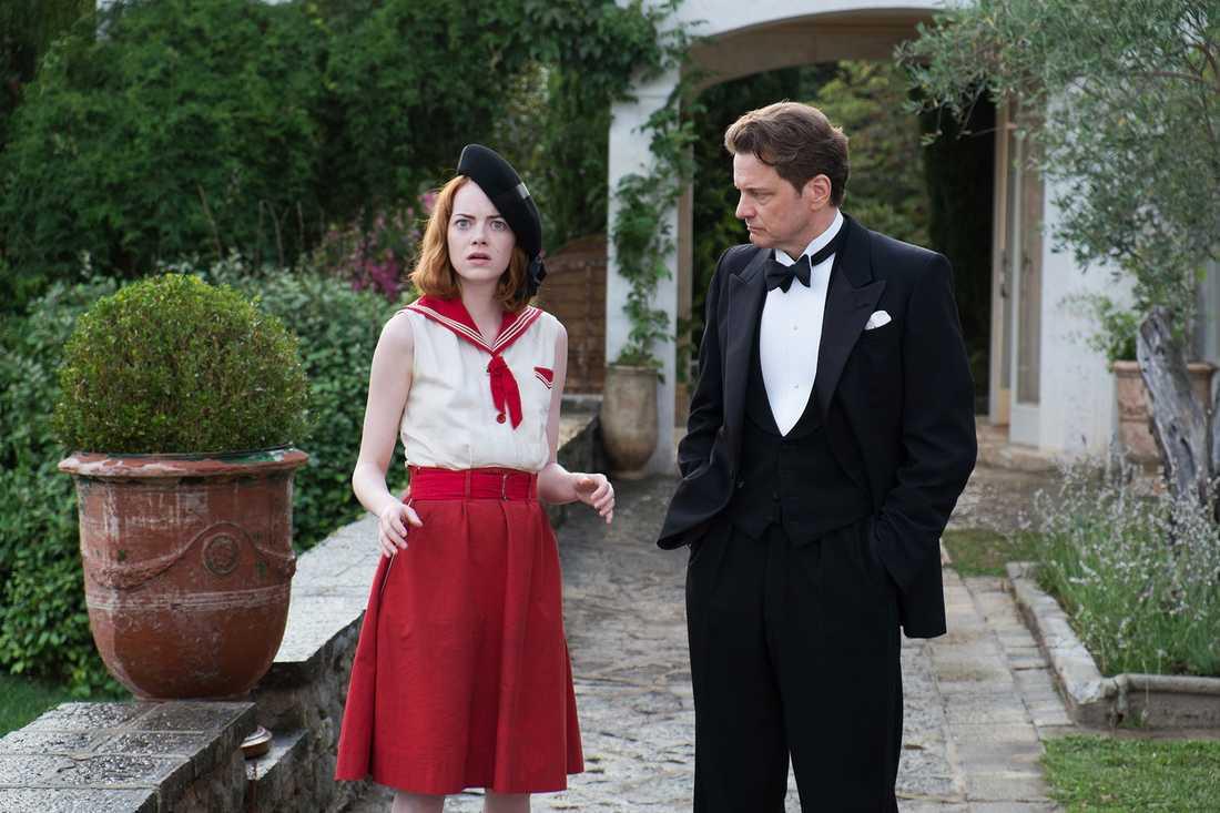 """Emma Stone och Colin Firth i Woody Allens """"Magic in the moonlight"""" – en bra men snabbt glömd historia."""