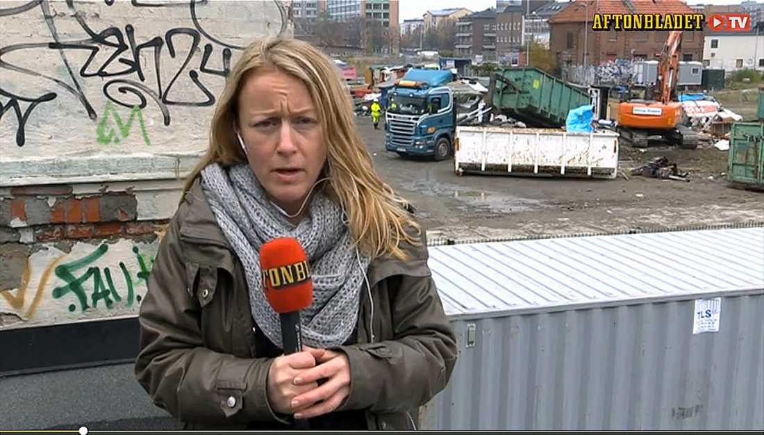 Aftonbladets Susanna Nygren rapporterade direkt under avhysningen av lägret i Malmö.