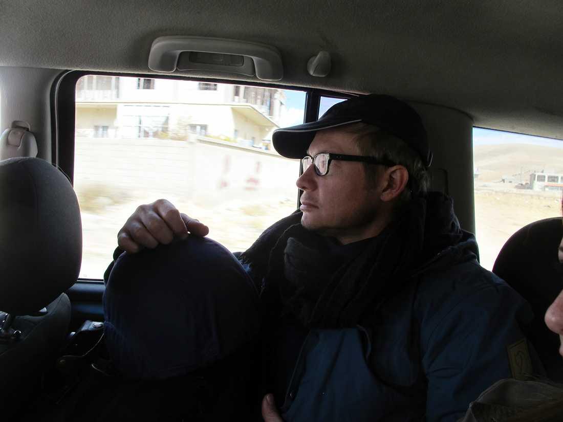 Magnus Falkehed någonstans mellan Yabrud i Syrien och Aarsal i Libanon strax före kidnappningen.