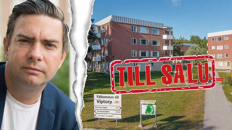 Vi Viptorpsbor har fått nog – och uppmanar  kommunstyrelsens ordförande i Eskilstuna, socialdemokraten Jimmy Jansson (till vänster), att komma hit och prata med oss. Ingen har varit här varken före eller efter beslutet att sälja våra bostäder, skriver 129 boende i Viptorp.