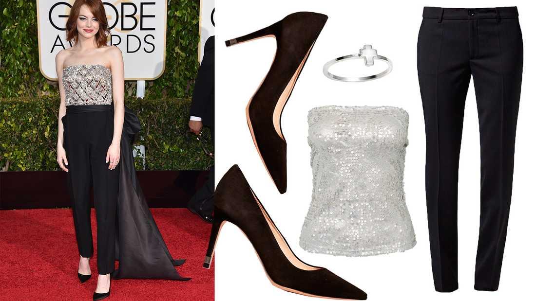 Emma Stone på Golden Globe-galan 2015.