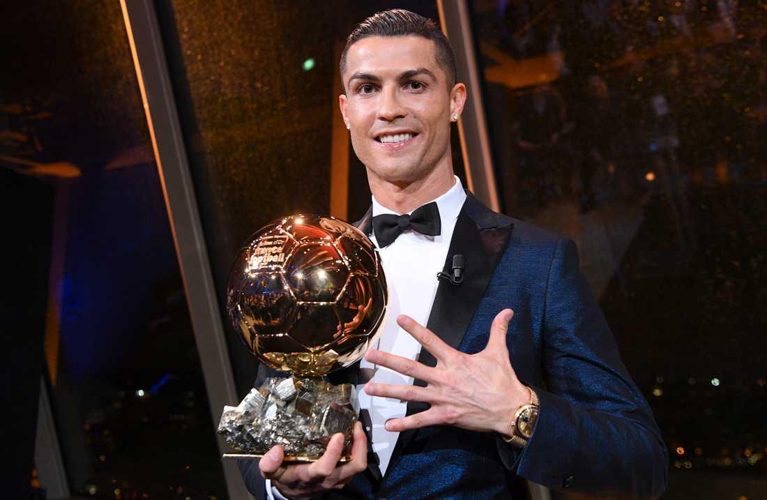2017 vann Cristiano Ronaldo sin femte Guldboll (Ballon d'Or).