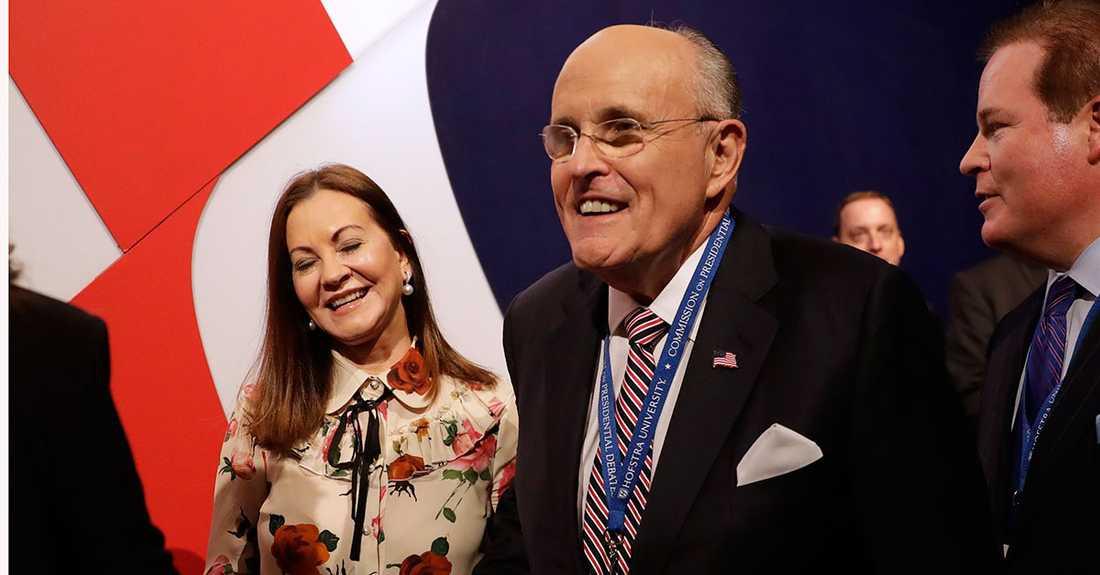 Rudy Giuliani tillsammans med frun Judith 2016.