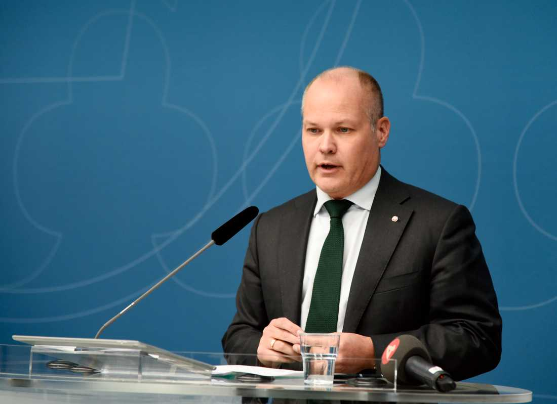 Justitie- och migrationsminister Morgan Johansson (S) ville rösta ja till EU:s nya upphovsrättsregler, men tvingades att ändra sig efter att ha blivit nedröstad i riksdagens EU-nämnd. Arkivfoto.