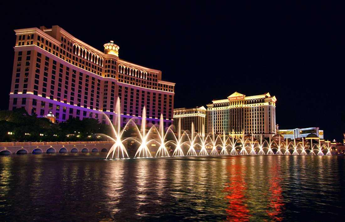 Bellagio är ett välkänt lyxhotell och kasino i Las Vegas.