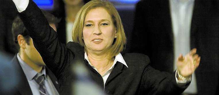 Segerjubel Kadimas Tzipi Livni jublar åt valresultatet som gör hennes parti till störst i Israel.