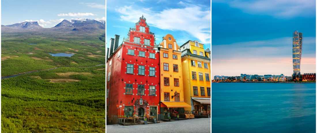 kända platser i sverige