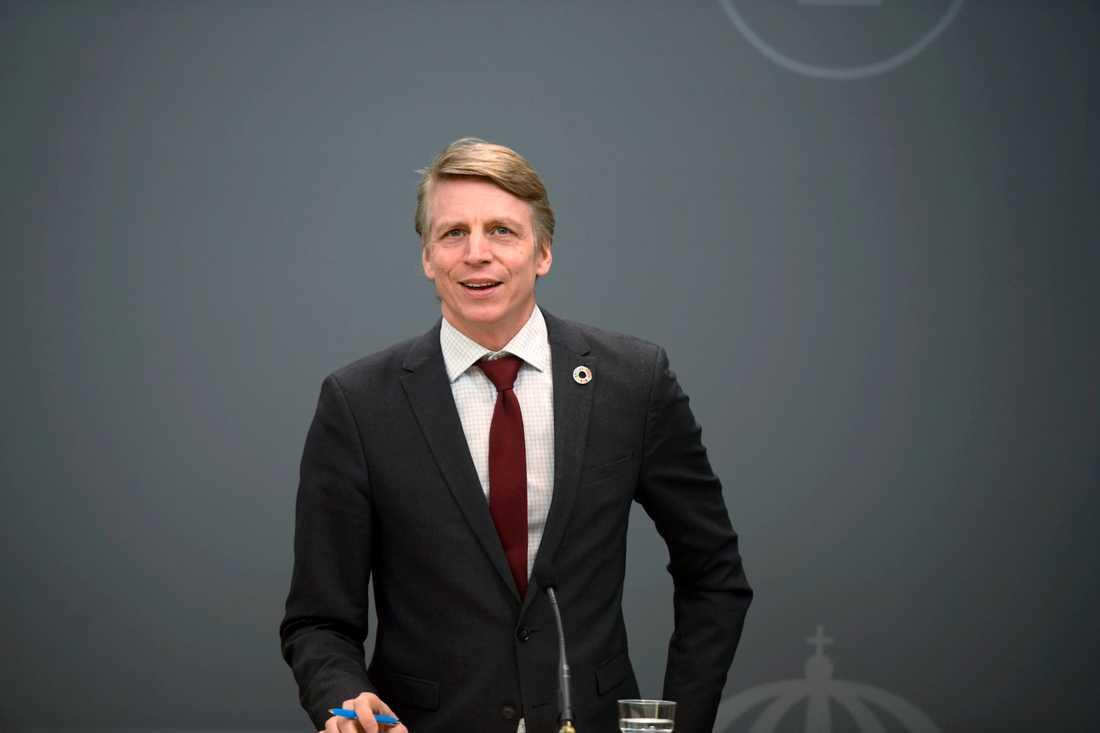 Miljö- och klimatminister Per Bolund fick berätta om svenska klimatlösningar under toppmötet Leaders Summit on Climate. Arkivbild.