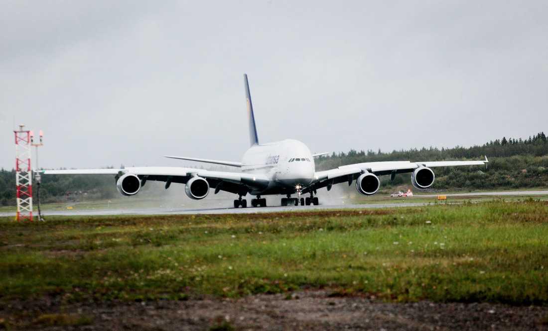Besöket på Arlanda varade ett par timmar innan det var dags att flyga vidare.