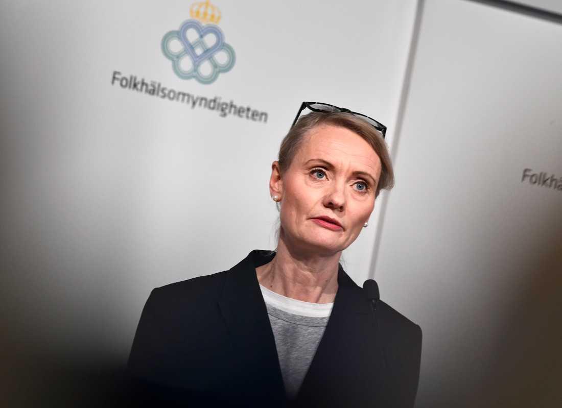Karin Tegmark-Wisell, avdelningschef på Folkhälsomyndigheten. Arkivbild.