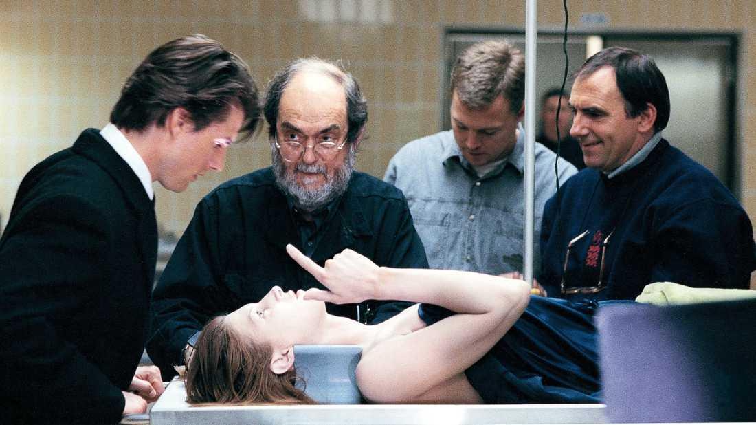 """Kubrick under inspelningen av """"Eyes wide shut"""" (1999) med Tom Cruise."""