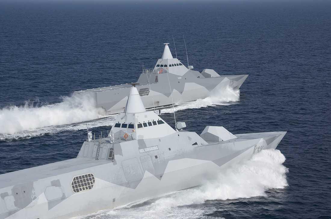 Marinens korvetter i Visby-klassen.