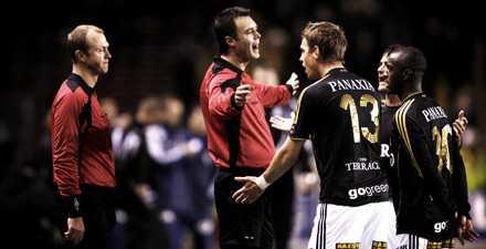 AIK-spelarna protesterade – men Wittberg var säker.