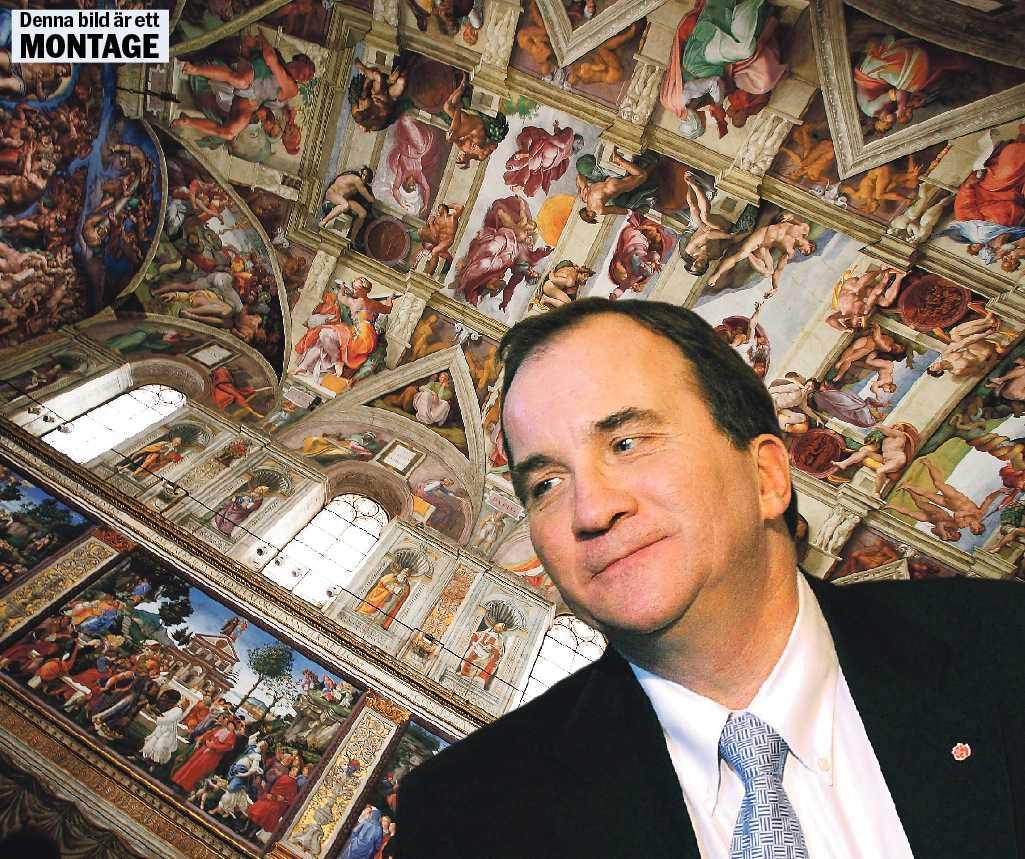 Måste hugga i  Konstnären Michelangelo som skapade taket i Sixtinska kapellet menade att han kunde titta på ett stenblock och se vad stenblocket ville bli – inte vad han själv ville skapa. Nu ska vi se om Socialdemokraternas Stefan Löfven kan hugga i så det räcker.