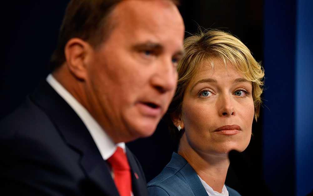 Statsminister Stefan Löfven och socialminister Annika Strandhäll.