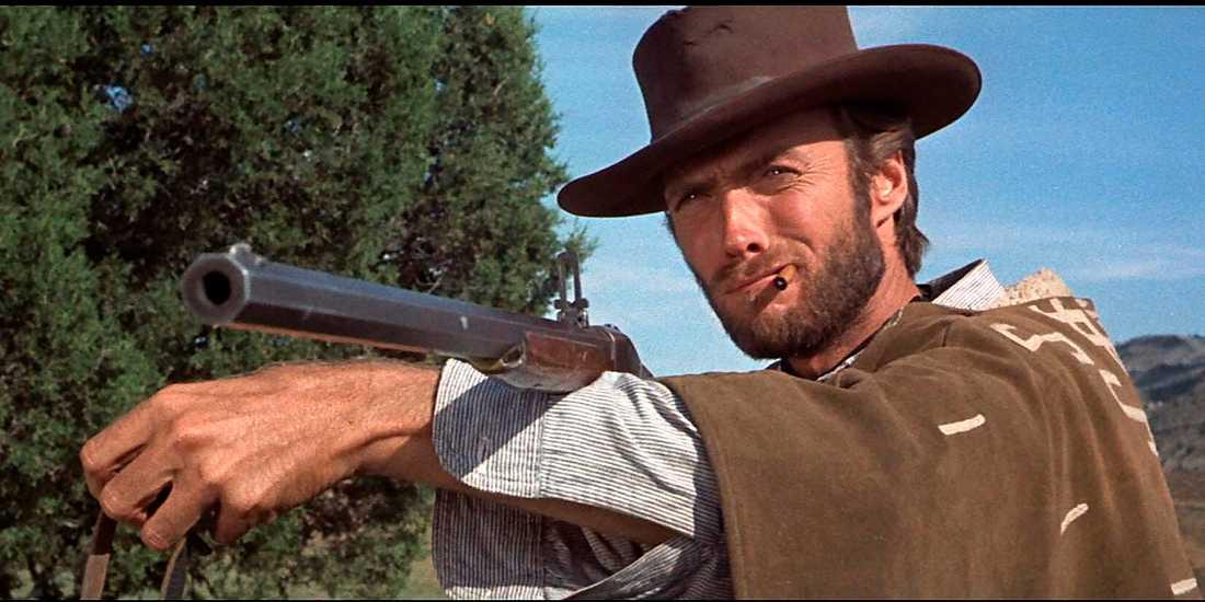 """Clint Eastwood, här i rollen som Blondie i """"Den gode, den onde och den fule"""" från 1966."""