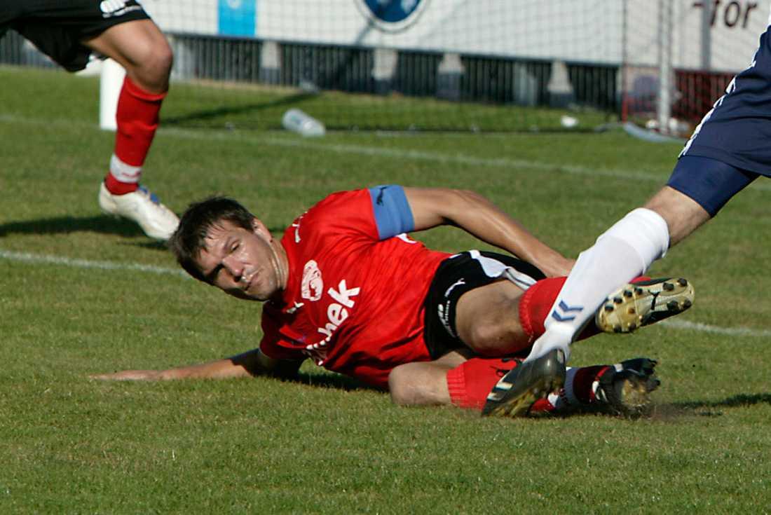 Brian Fakkenor från en match mellan Fredericia och AGF.