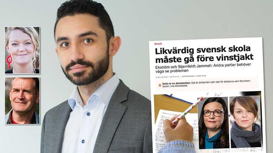 Om S menar det ni skriver, att en likvärdig svensk skola måste gå före vinstjakt, då måste ni göra upp med nedskärningarna, skolvalet och den marknadsanpassade skolan, skriver Daniel Riazat, Emma-Lina Johansson och Anders Skans.
