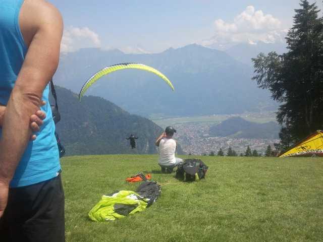 Paragliding i Interlaken.
