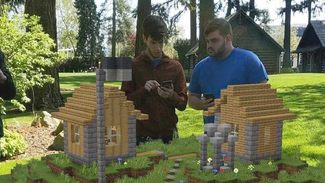 """""""Minecraft earth"""" läggs ned i sommar. Pressbild."""