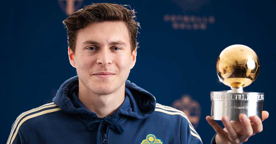 Victor Nilsson Lindelöf den senaste att få ta emot Guldbollen.